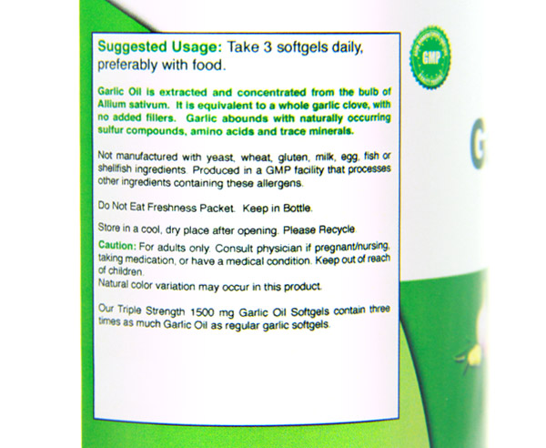 Emergen30 - Garlic Oil (side)