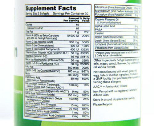 Emergen30 - Multi Vitamin Facts