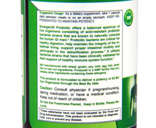 Emergen30 - Probiotic (side)