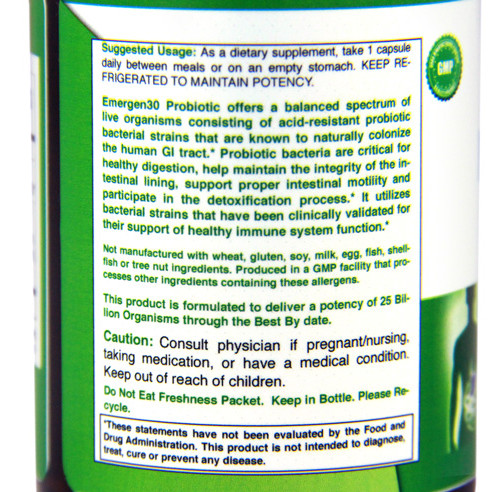 Emergen30 - Probiotic (side)