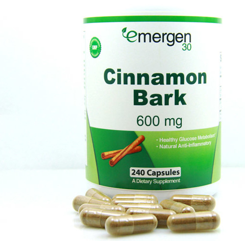 Emergen30 - Cinnamon Bark, 600 mg, 240 capsules