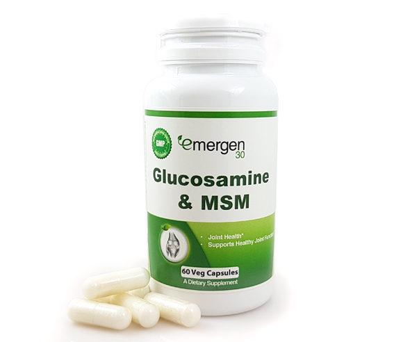 Emergen30 Glucosamine & MSM - 60 Veg Capsules