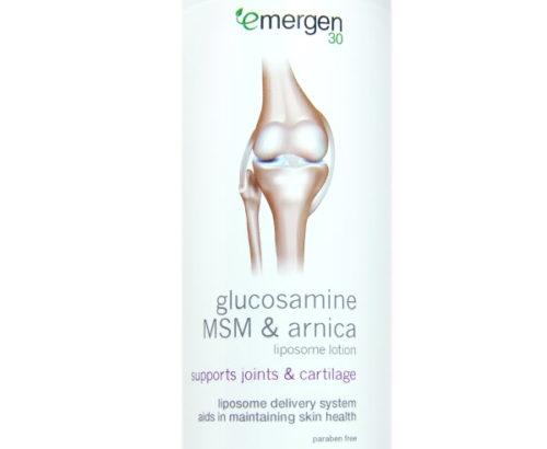 Emergen30 - Glucosamine, MSM & Arnica Liposome Lotion, 8 Oz