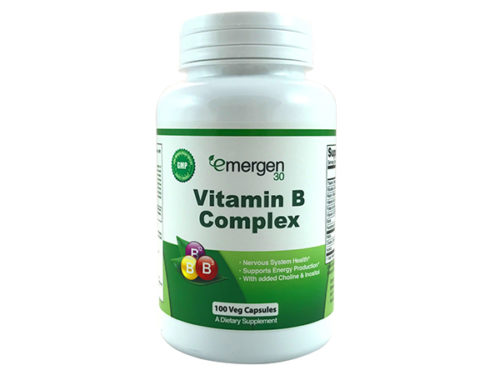 Emergen30 - Vitamin B Complex - 100 Sustained Release Capsules