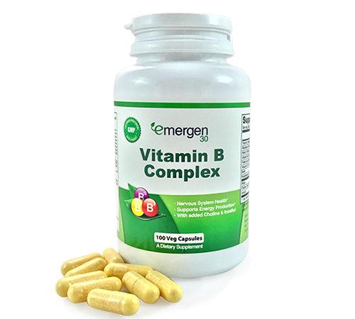 Emergen30 - Vitamin B Complex - 100 Sustained Release Capsules