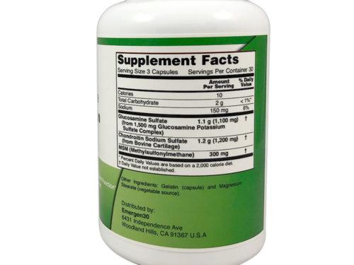 Emergen30 - Glucosamine & Chondriotin - 90 Capsules - Facts