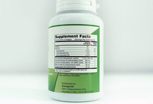 Emergen30 - Omega 3-6-9 1000 mg Softgels - Facts